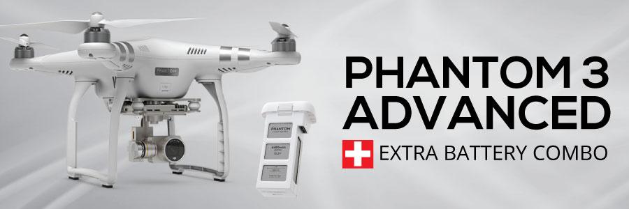 Jual DJI Phantom 3 Advanced + Extra Battery Combo