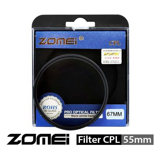 Jual Zomei Filter CPL 55mm surabaya jakarta