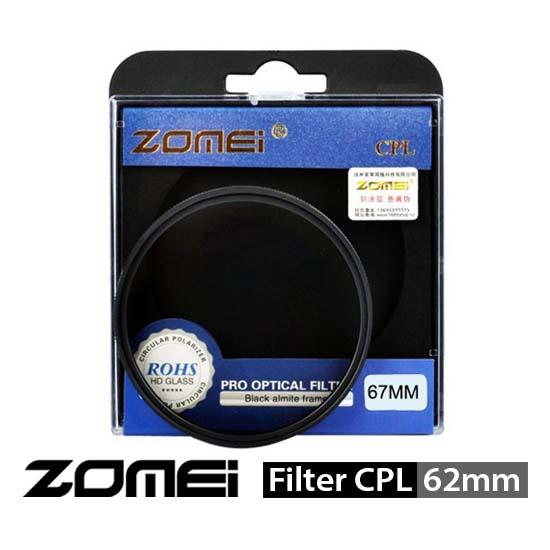 Jual Zomei Filter CPL 62mm surabaya jakarta