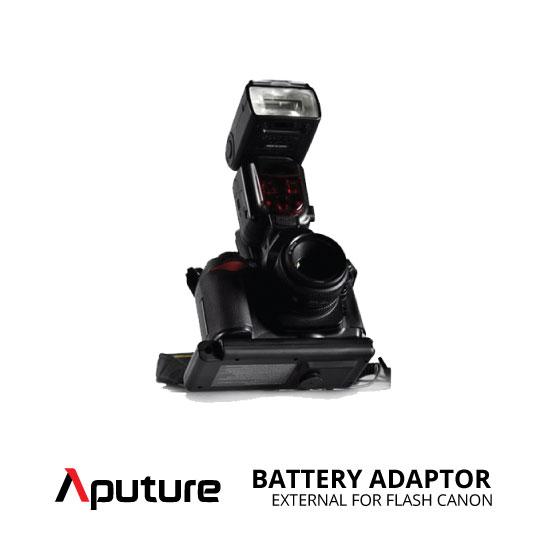 jual Aputure External Battery Adaptor for Flash Canon