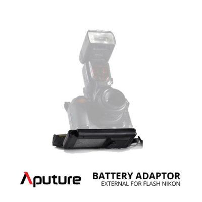 jual Aputure External Battery Adaptor for Flash Nikon