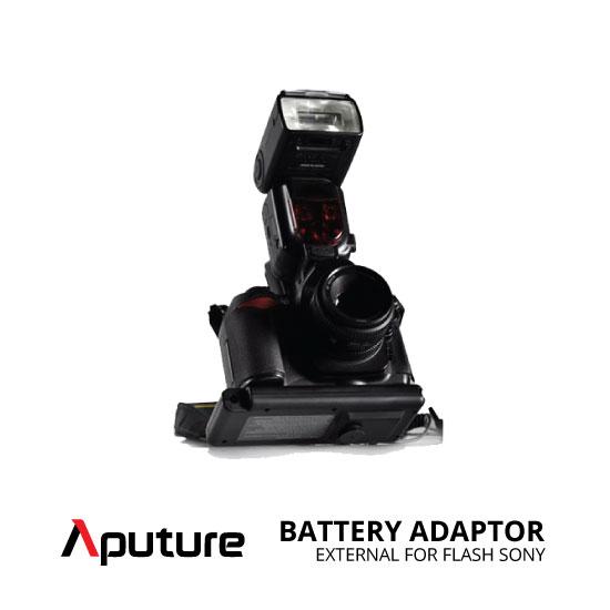 jual Aputure External Battery Adaptor for Flash Sony