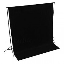 NiceFoto Backdrops Background Solid Muslin 3x6 Meter Black