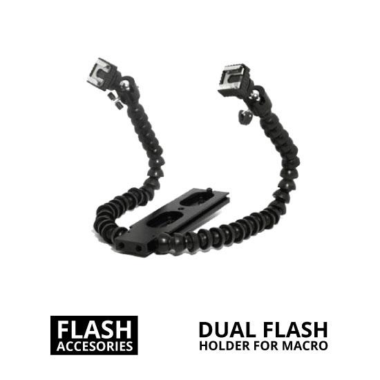 jual Dual Flash Holder for Macro