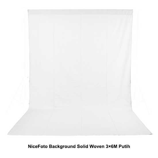 Jual NiceFoto Background Solid Woven 3×6M Putih surabaya jakarta