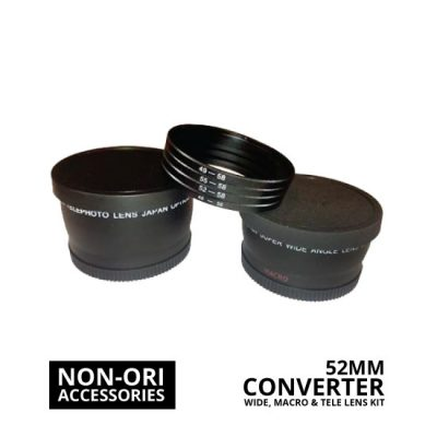 jual Lens Converter Kit Wide, Macro, Tele 52mm