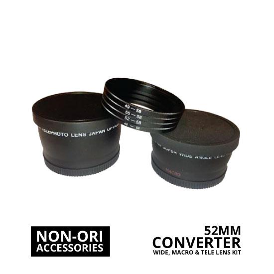 jual Lens Converter Kit Wide, Macro, Tele 52mm