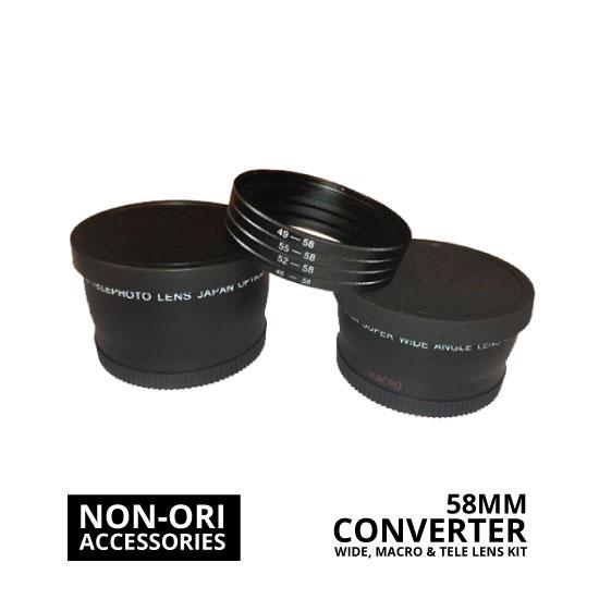 jual Lens Converter Kit (Wide, Macro, Tele) 58mm
