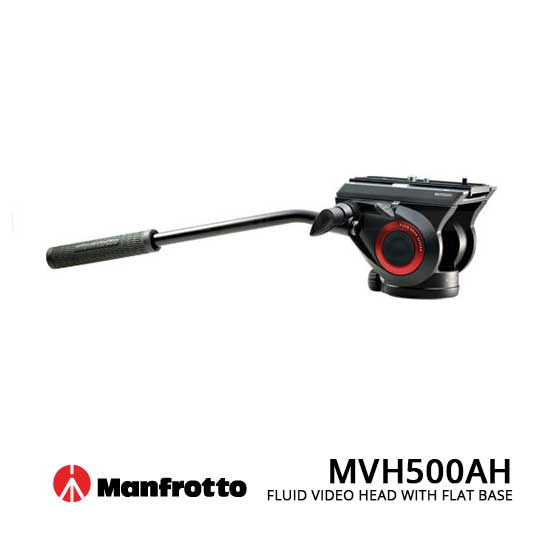 jual Manfrotto MVH500AH Fluid Video Head with Flat Base