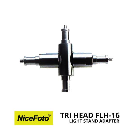 jual Nice – Tri Head Light Stand Adapter FLH-16