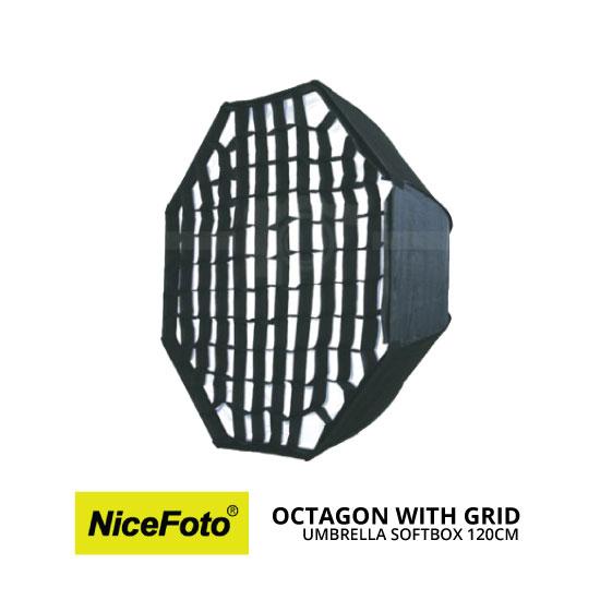 jual Nice Foto Umbrella Softbox Octagon with Grid (120cm)