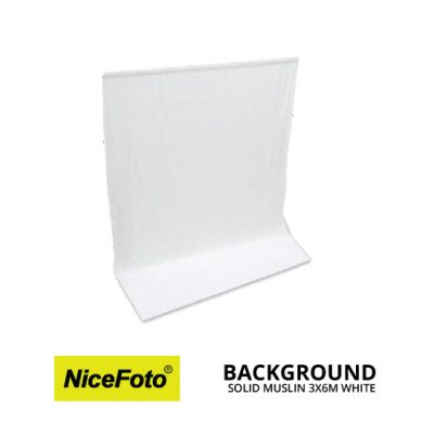 jual NiceFoto Backdrops Background Solid Muslin 3x6 Meter White