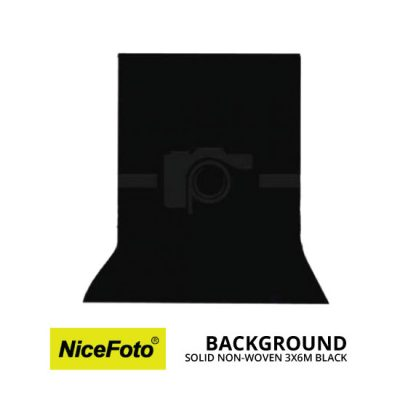 jual NiceFoto Background Non Woven 3X6 Hitam
