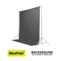 jual NiceFoto Background Solid Woven 3×6M Grey