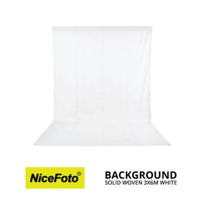 jual NiceFoto Background Solid Woven 3×6M Putih