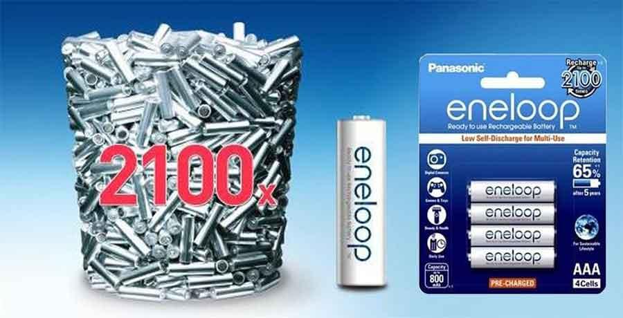 jual Panasonic Eneloop AA 1900mah isi 4 Baterai