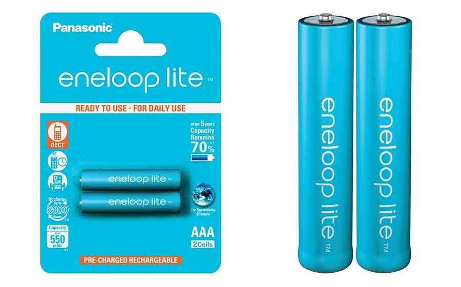 jual Panasonic Eneloop Lite AAA 550mAh isi 2 Baterai