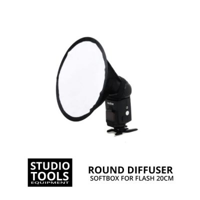 jual Round Softbox 20cm for Speedlite Flash Diffuser
