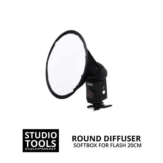 jual Round Softbox 20cm for Speedlite Flash Diffuser