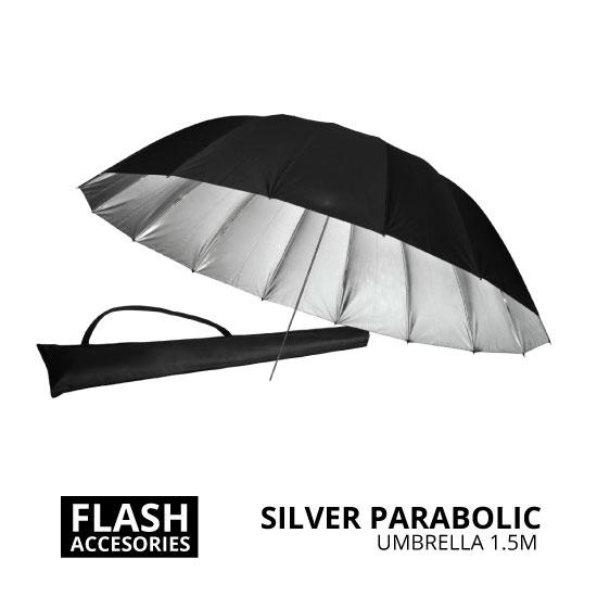 jual Silver Parabolic Umbrella 1.5m