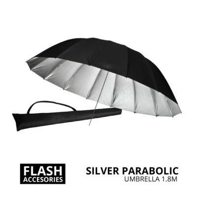 jual Silver Parabolic Umbrella 1.8m