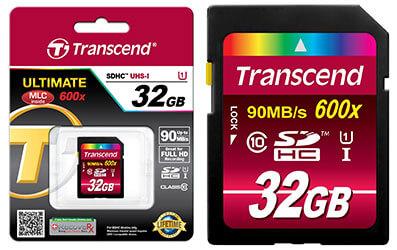 jual memory card transcend 32gb 600x