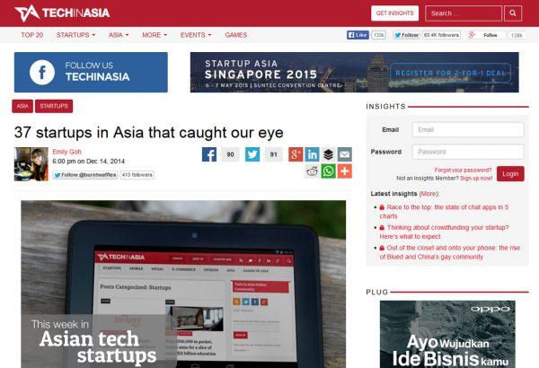 Techinasia 14 Desember 2014