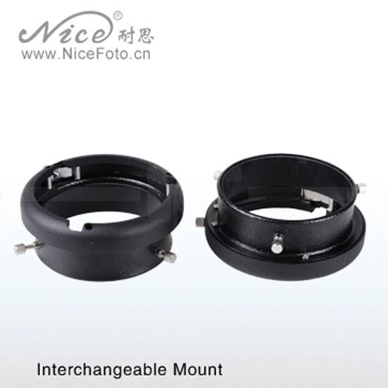 NiceFoto Interchangeable Mount Mini to Bowens
