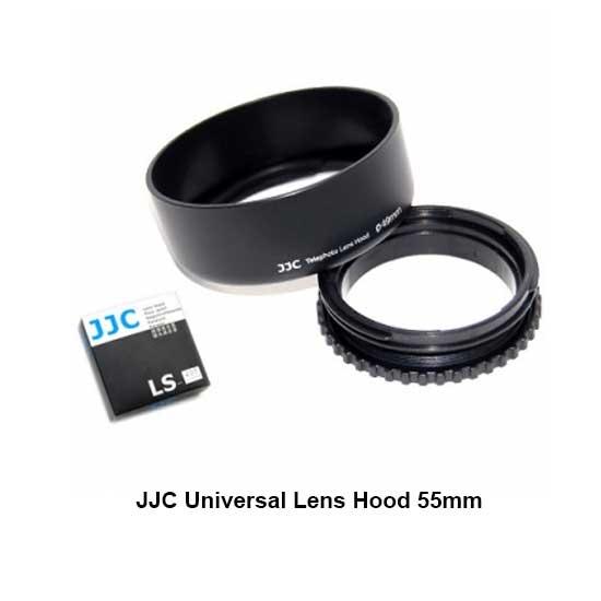 Jual JJC Universal Lens Hood 55mm