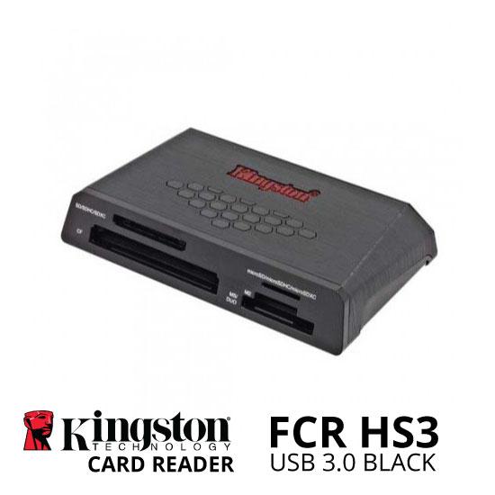 jual Kingston USB 3.0 Card Reader FCR HS3 Black