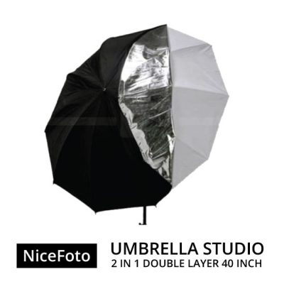 jual Payung Studio - NiceFoto 2in1 Double-layer Umbrella Studio 40""