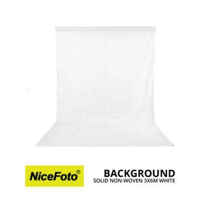 jual NiceFoto Background Non Woven 3X6 Putih