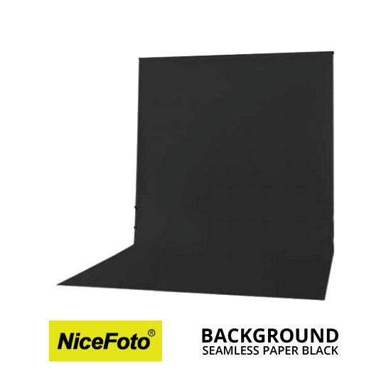 jual NiceFoto Seamless Background Paper Hitam