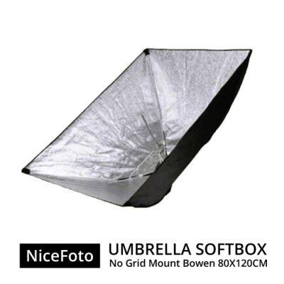 jual NiceFoto Umberella Softbox No Grid Mount Bowen 80x120