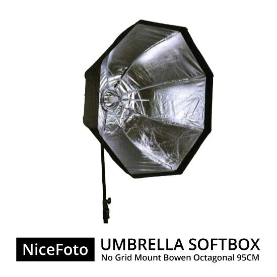 jual NiceFoto Umbrella Softbox No Grid Mount Bowen Octagonal 95cm