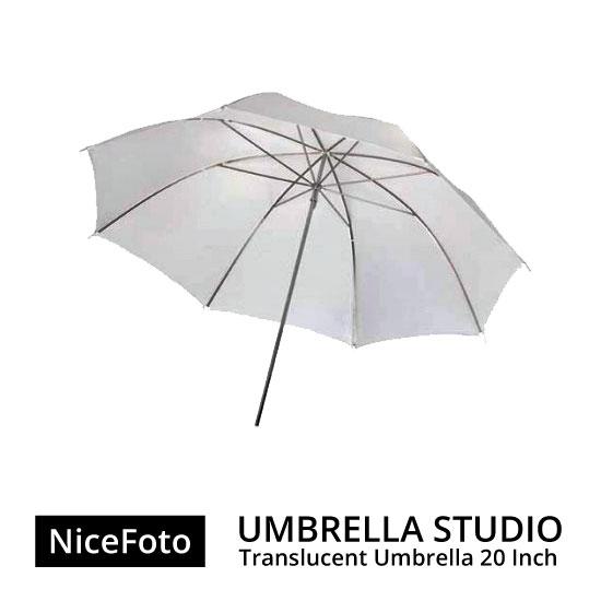 jual Payung Studio - NiceFoto Umbrella Translucent 20inch