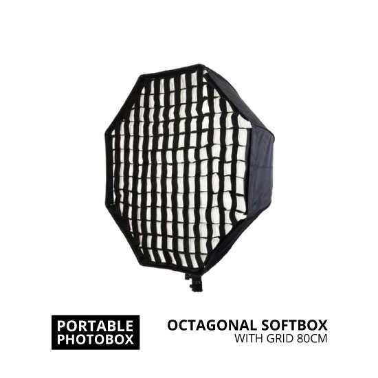 jual Portable Octagonal Softbox 80cm with Grid