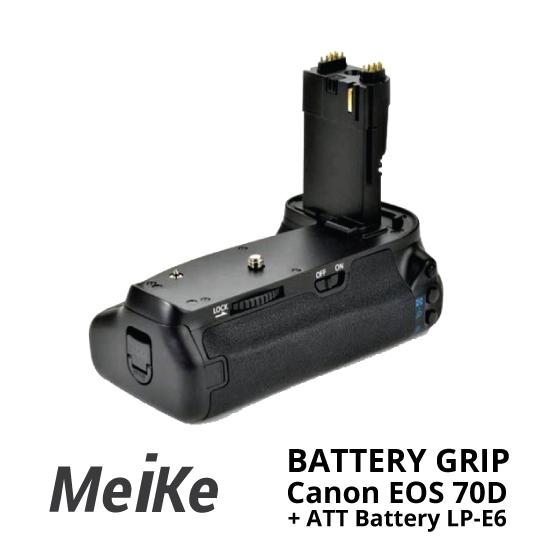 Jual Meike Battery Grip For EOS 70D + ATT Battery LP-E6 surabaya jakarta