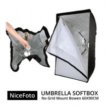 jual Nice Foto Umbrella Softbox No Grid Mount Bowen - 60x90