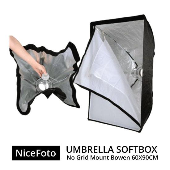 jual Nice Foto Umbrella Softbox No Grid Mount Bowen - 60x90