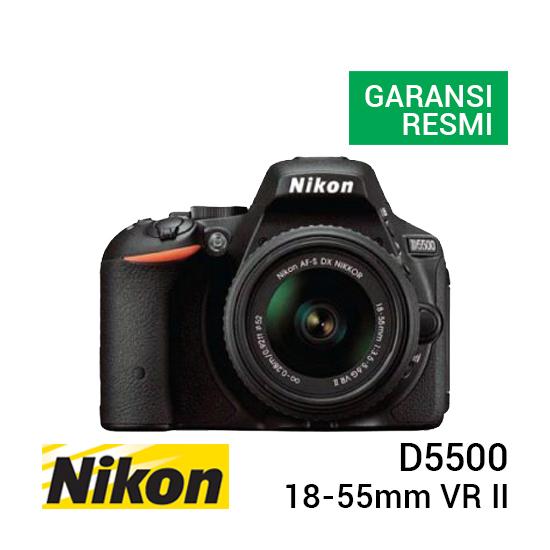 jual kamera Nikon D5500 Kit AF-S 18-55mm VR II harga murah surabaya jakarta