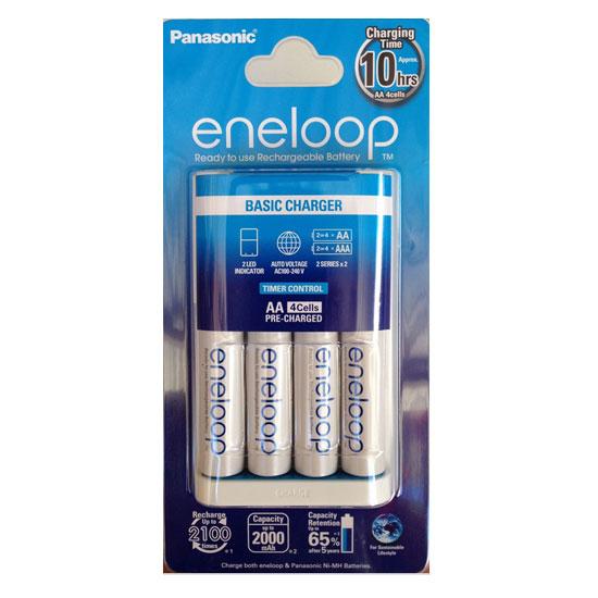 Eneloop Basic Charger + 4 Baterai AA