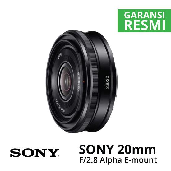 Jual Lensa Sony 20mm f/2.8 Alpha E-mount Harga Murah Surabaya & Jakarta