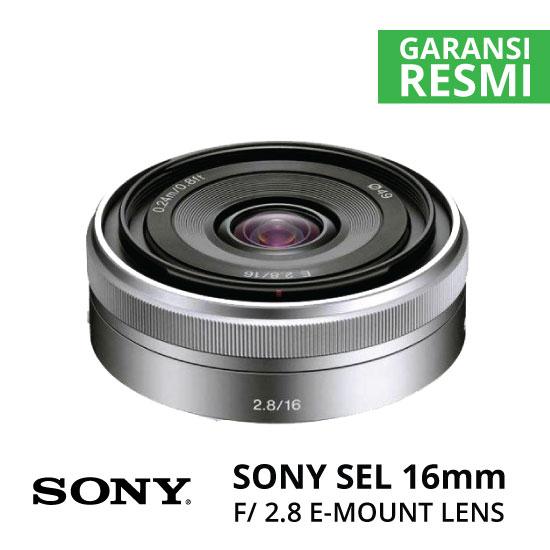 Jual Lensa Sony SEL 16mm F2.8 Pancake Harga Murah Surabaya & Jakarta