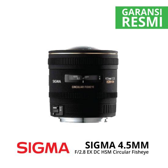 jual Sigma 4.5mm F2.8 EX DC HSM Circular Fisheye
