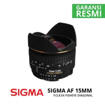 jual Sigma AF 15mm F/2.8 EX Fisheye Diagonal