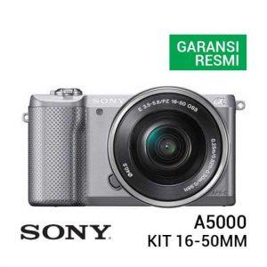 jual kamera mirrorless Sony A5000 Kit 16-50mm Silver f/3.5-5.6 OSS harga murah surabaya jakarta