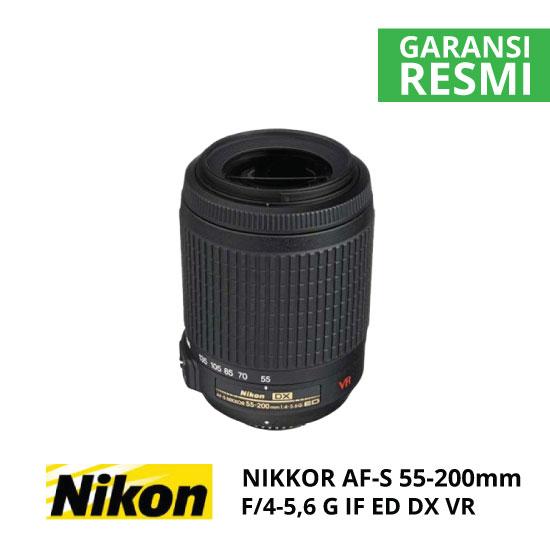 jual Nikon AF-S 55-200mm F/4-5,6G IF ED DX VR Nikkor