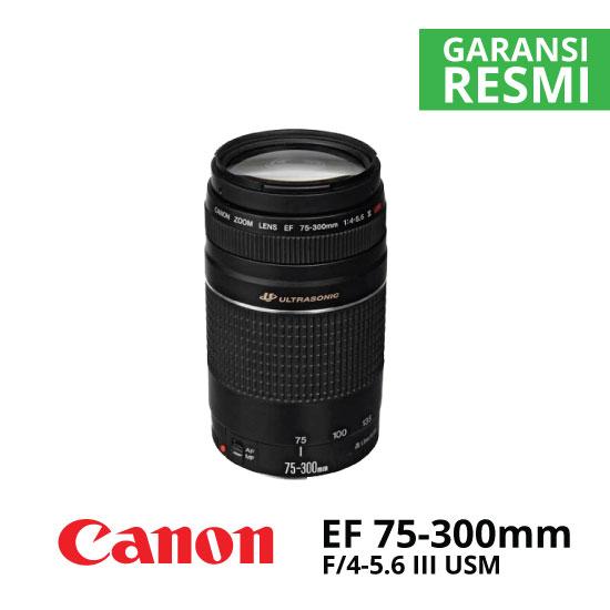 jual Canon EF 75-300mm f/4-5.6 III USM