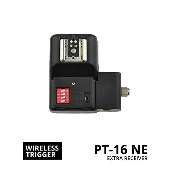 Jual WIRELESS FLASH TRIGGER PT-16 NE EXTRA RECEIVER